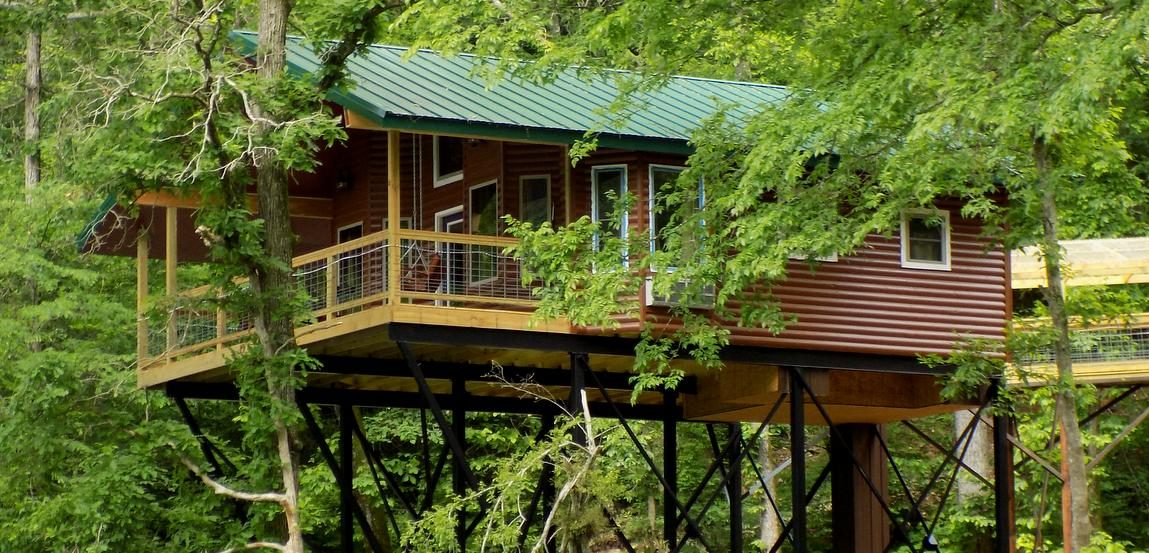 Missouri Treehouse Cabins Family Vacation