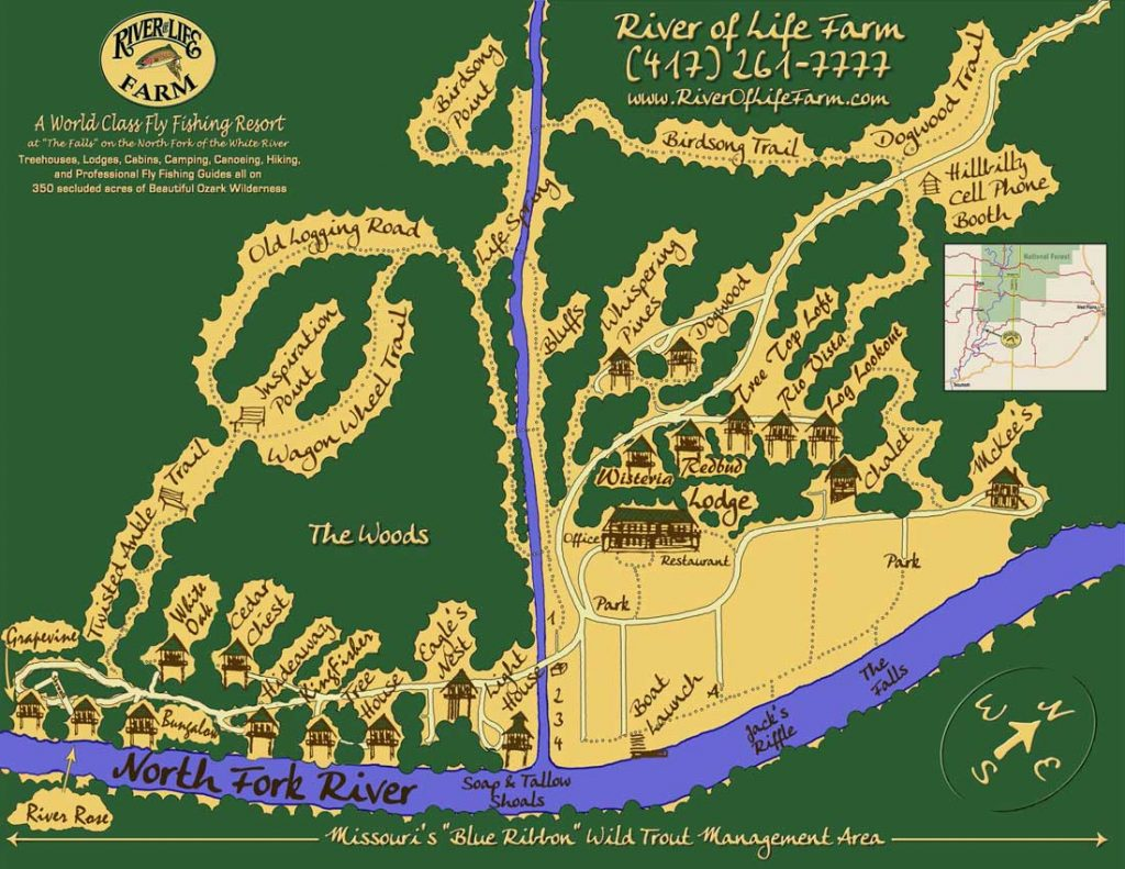 Treehouse Cabins Map