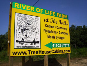 Treehouse Cabins River of Life Farm Dora Missouri