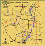 North Fork River Area Map