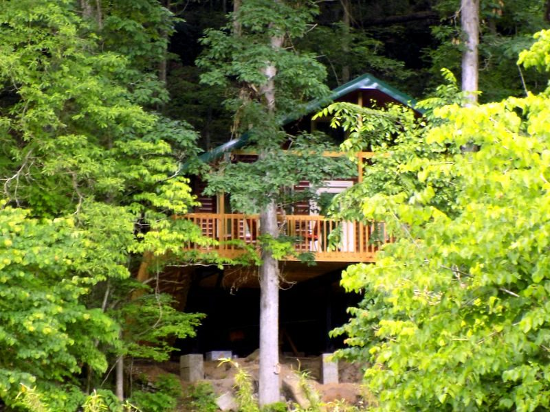 Missouri Romantic White Oak Cabin Treehouse Cabins