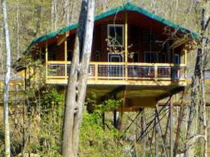 Missouri Romantic Honeymoon Treehouse Cabin