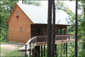Missouri treehouse cabin treetop vacation