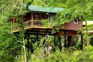 Missouri Romantic getaway treehouse cabin
