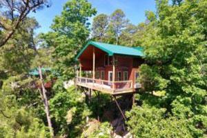 Missouri Treehouse Cabin Family Vacation Redbud