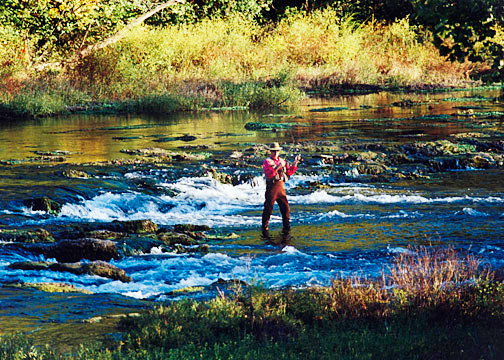 Missouri trout fly fishing in the Ozarks, North Fork River